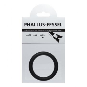 AMARELLE Phallusfessel, Latex Penisring, XL, schwarz