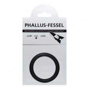 AMARELLE Phallusfessel, Latex Penisring, L, schwarz