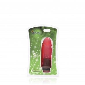 SI IGNITE Cock mit Vibration, 15 cm (6 in), Rot