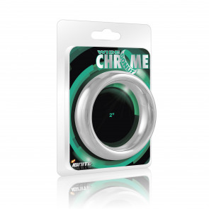 SI IGNITE Weiter Chrome Donut Metall Penisring, 5,1 cm (2,0 in)
