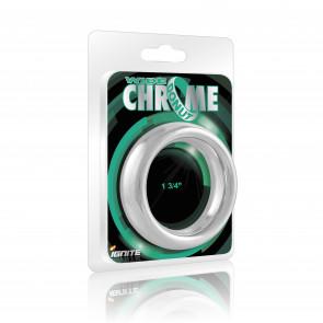 SI IGNITE Weiter Chrome Donut Metall Penisring, 4,4 cm (1,75 in)