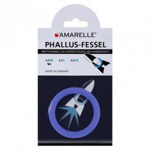AMARELLE Phallusfessel, Rubber Cockring, M, blue,