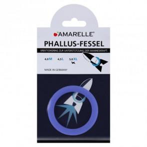 AMARELLE Phallusfessel, Rubber Cockring, XL, blue