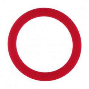 AMARELLE Phallusfessel, Rubber Cockring, M, red,