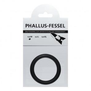 AMARELLE Phallusfessel, Rubber Cockring, M, black