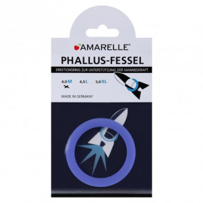 AMARELLE Phallusfessel, Rubber Cockring, M, blue,