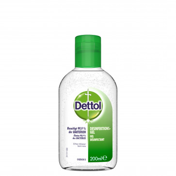 Dettol Antibacterial Hand Disinfection Gel, 200 ml (6,8 fl.oz.)