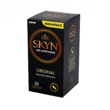 Manix Skyn Original Natural Feeling Condoms, Latex Free & Vegan, 18 cm (7,1 in), 20 pcs