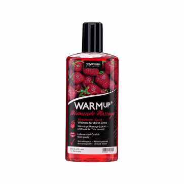 JoyDivision WARMup Warming Massage Liquid, Strawberry, 150 ml (5,1 fl.oz.)