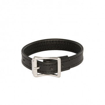 SI IGNITE plain cockring with buckle, leather, Ø 7,0 cm (2,8 in)