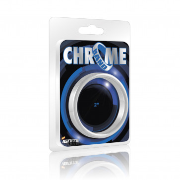 SI IGNITE Chrome Band Cockring, 5,1 cm (2,0 in)