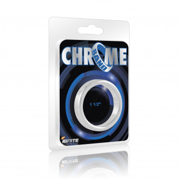 SI IGNITE Chrome Band Cockring, 3,8 cm (1,5 in)