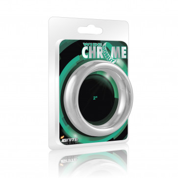SI IGNITE Wide Chrome Donut Cockring, 5,1 cm (2,0 in)