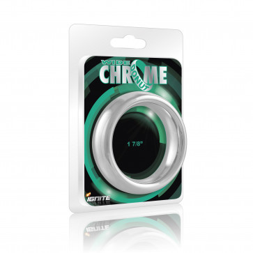 SI IGNITE Wide Chrome Donut Cockring, Chromed Metal, 4,8 cm (1,88 in)