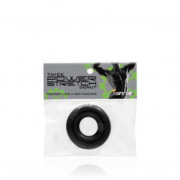SI IGNITE Thick Power Stretch Donut, Cockring, Black