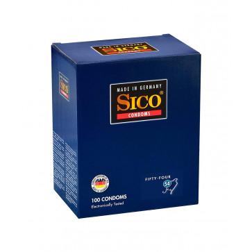 SICO 54 Size, Latex, Clear, 18 cm (7 in), Ø 5,4 cm (2,1 in), 100 Condoms