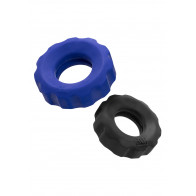 Hünky Junk Cog 2-Size Cockrings, Blue/Black