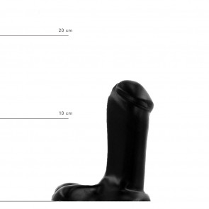 ALL BLACK Dildo Matthew, Vinyl, Black, 14 cm (5,5 in), Ø 5 cm (2 in)
