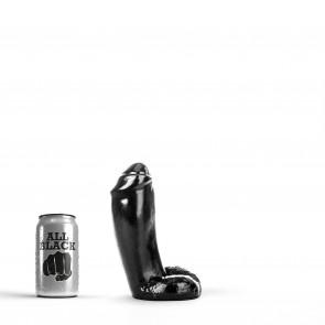 ALL BLACK Dildo Jerry, Vinyl, Black, 18 cm (7,1 in), Ø 5,5 cm (2,2 in)
