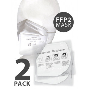 FFP2 Particulate Respirator KN95 Mask, White, One Size, 2 Pack