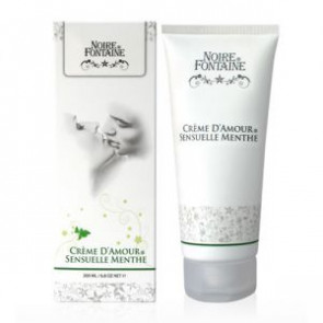 Noire Fontaine Crème D'Amour, Sensuelle Menthe, Intimate Massage Cream, 200 ml (6,8 fl.oz.)