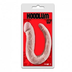 NMC HOODLUM U Shape Double Dong, PVC, Flesh, 40 cm (16 in), Ø 4,6 cm (1,8 in)