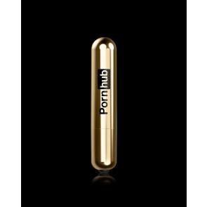 Pornhub Toys Vibrating Bullet, Gold, 9 cm (3,5 in), Ø 3,5 cm (1,3 in)