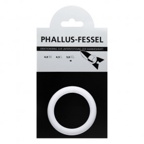 AMARELLE Phallus-Fessel, Latex Cockring, XL, white