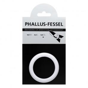 AMARELLE Phallus-Fessel, Latex Cockring, XL, white