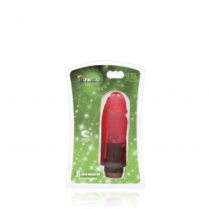SI IGNITE Cock Dong with Vibration, Vinyl, Red, 15 cm (6 in)