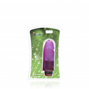 SI IGNITE Cock Dong with Vibration, Vinyl, Purple, 15 cm (6 in)