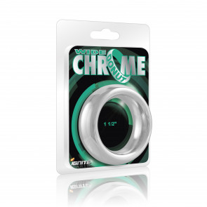 SI IGNITE Wide Chrome Donut Cockring, Chromed Plated Steel, 3,8 cm (1,5 in)