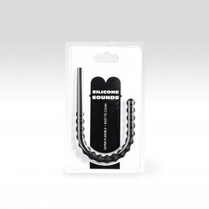 Rippled Silicone Sound, Dilator, Dilatator / Diameter 8-12mm / Length 24cm