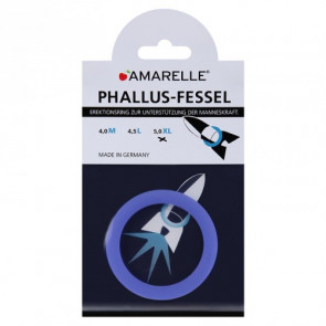 AMARELLE Phallus-Fessel, Latex Cockring, XL, blue