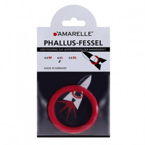 AMARELLE Phallus-Fessel, Latex Cockring, L, red,