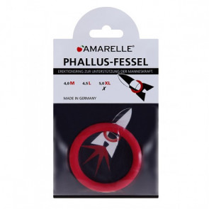 AMARELLE Phallus-Fessel, Latex Cockring, XL, red,