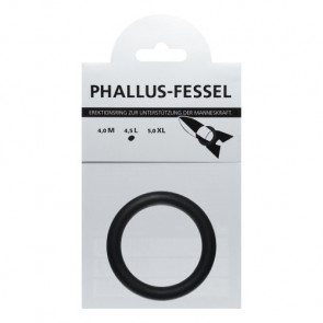 AMARELLE Phallus-Fessel, Latex Cockring, L, black