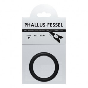 AMARELLE Phallus-Fessel, Latex Cockring, M, black