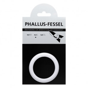 AMARELLE Phallus-Fessel, Latex Cockring, L, white