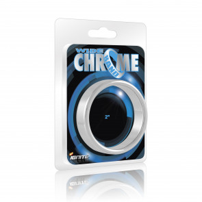 SI IGNITE Wide Chrome Band Cockring, 5,1 cm (2,0 in)