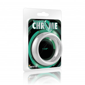 SI IGNITE Wide Chrome Donut Cockring, Chromed Plated Steel, 4,4 cm (1,75 in)