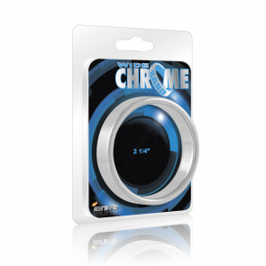 SI IGNITE Wide Chrome Band Cockring, 5,7 cm (2,25 in)